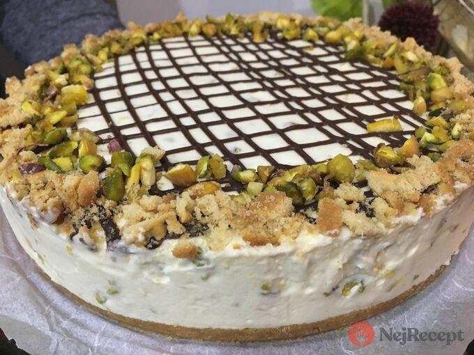 Recept Nepečený pistáciový cheesecake