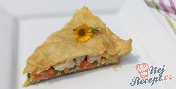 Recept Quiche se zeleninou a kuřecím masem